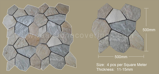 Crazy Paving Stone Mat
